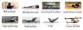 exercises which target the abdomen, thighs, legs, hips, pelvic floor